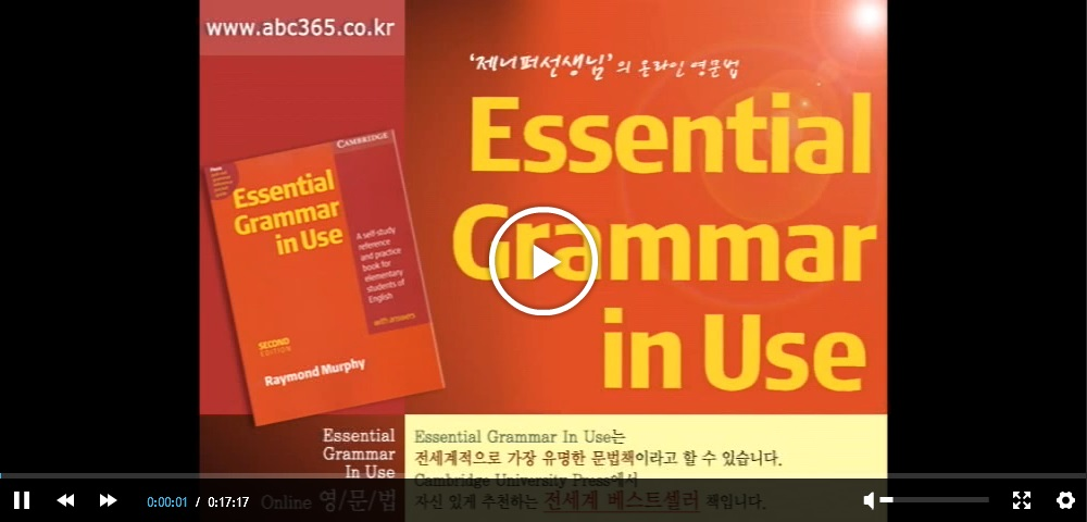 Essential Grammar in Use 샘플강좌